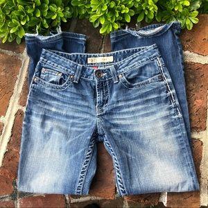 BKE Kate medium wash bootcut jeans size 28